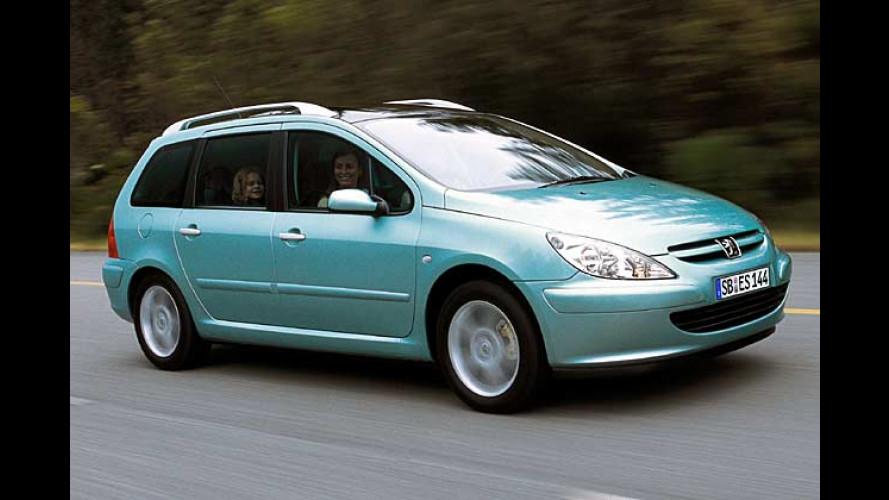 Peugeot 307 SW DVD: Passagiere reisen mit Filmgenuss