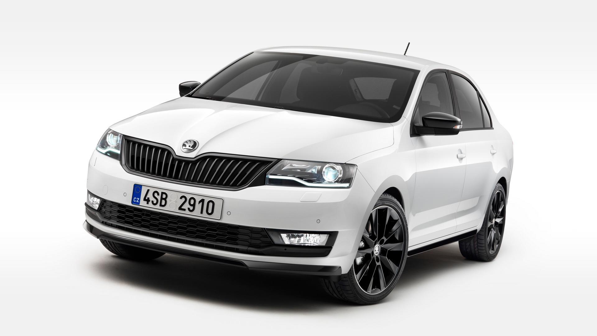 Skoda Rapid Facelift Revealed With Bi Xenon Headlights 1 0 Tsi