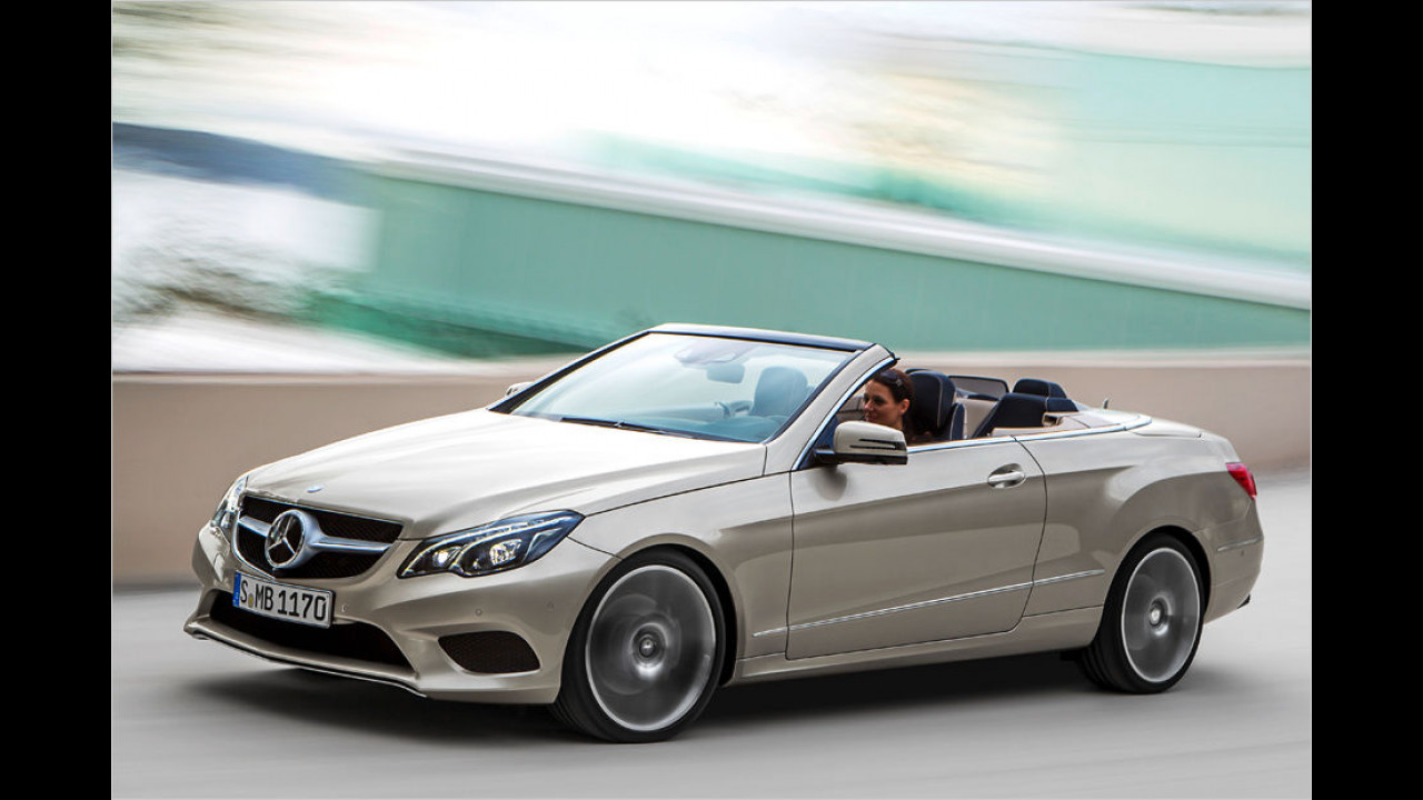Platz zehn: Mercedes E-Klasse Cabrio