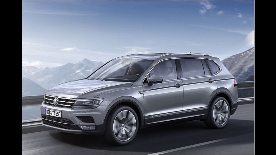 VW Tiguan Allspace: Langversion mit bis zu sieben Sitzen