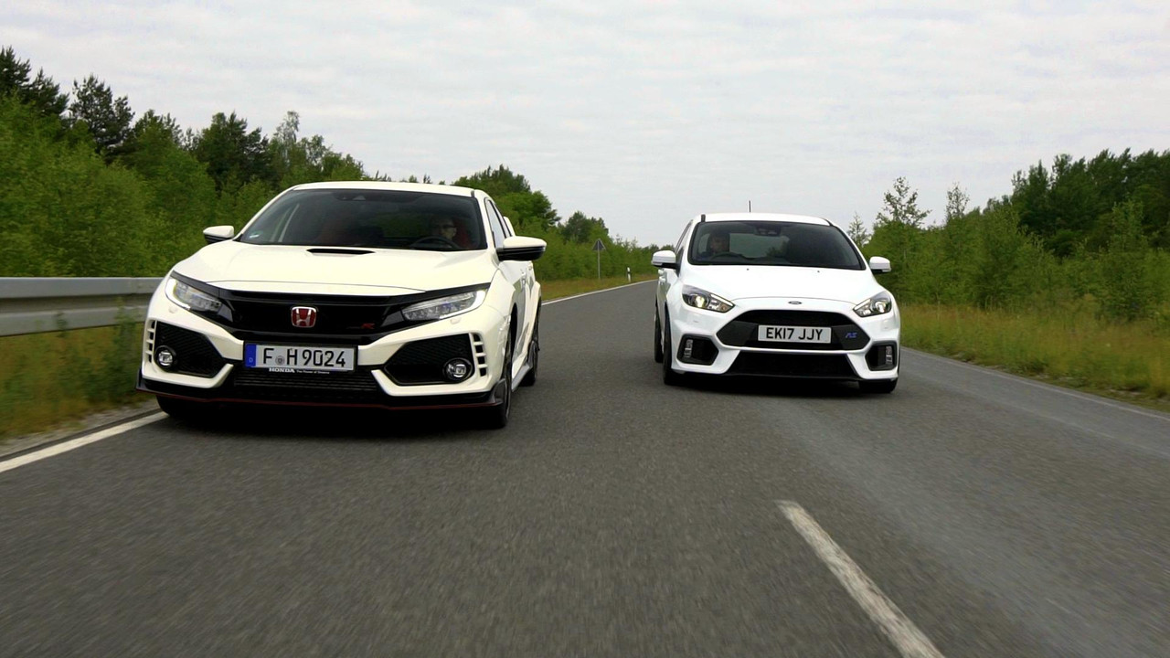 Honda Civic Type Versus Ford Focus RS