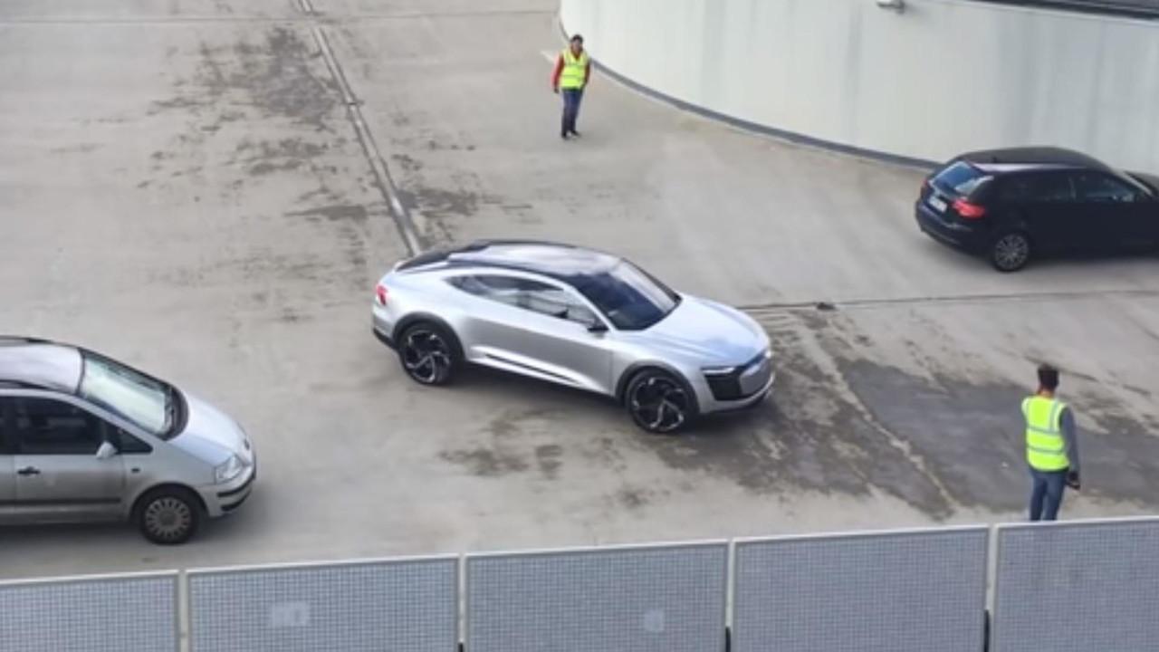 Audi E-Tron Sportback caught