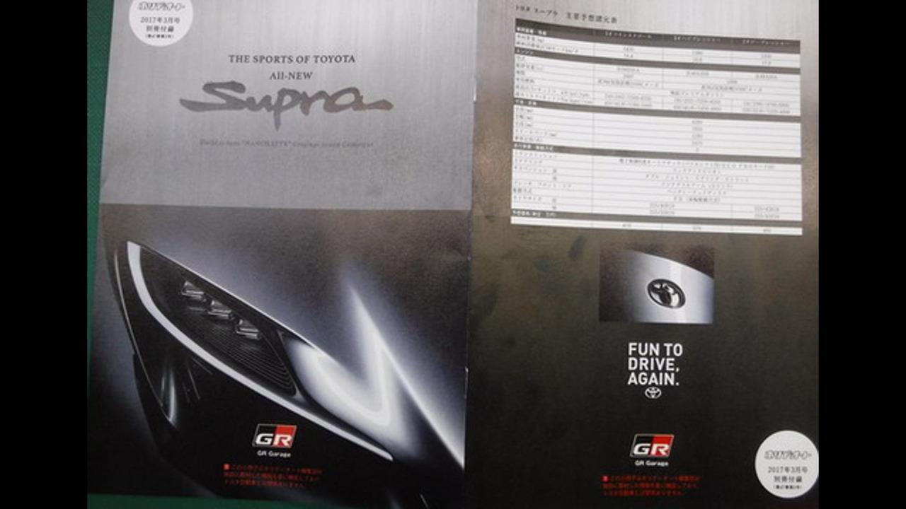 2018 Toyota Supra broşürü (onaylanmadı)