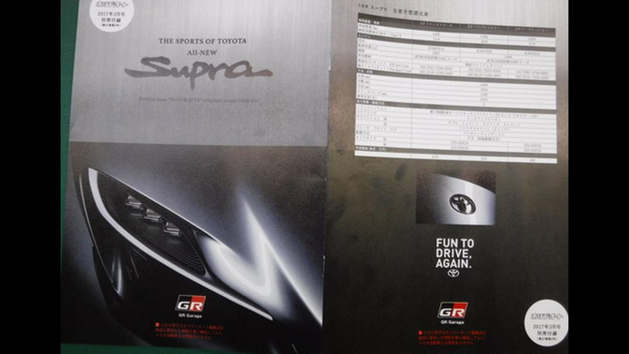 Alleged 2018 Toyota Supra brochure leaks out [UPDATE]
