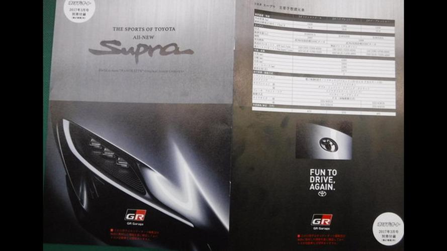 2018 Toyota Supra broşürü oldukça makul duruyor