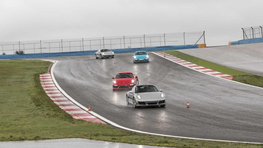 Porsche pist gününde heyecan doruktaydı