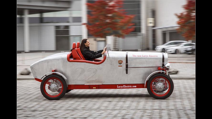 Loryc Electric Speedster: Alu-Oldtimer mit Elektroantrieb