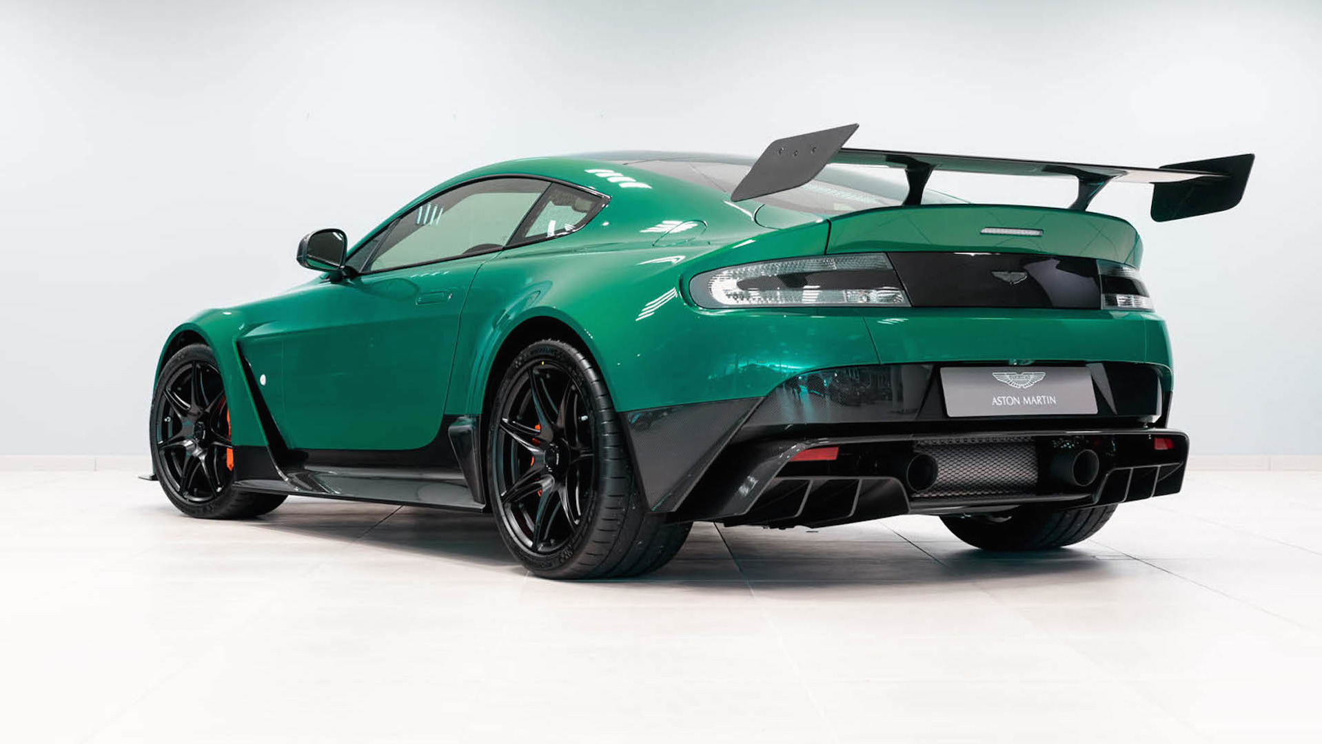 this is the only aston martin vantage gt12 in viridian green