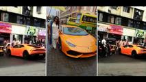 Lamborghini Huracan crash in India