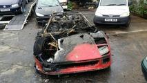 Ferrari F40 brulée