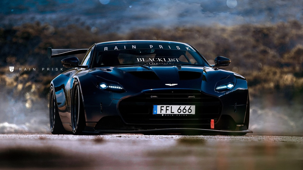 Aston Martin DB11 race car rendering