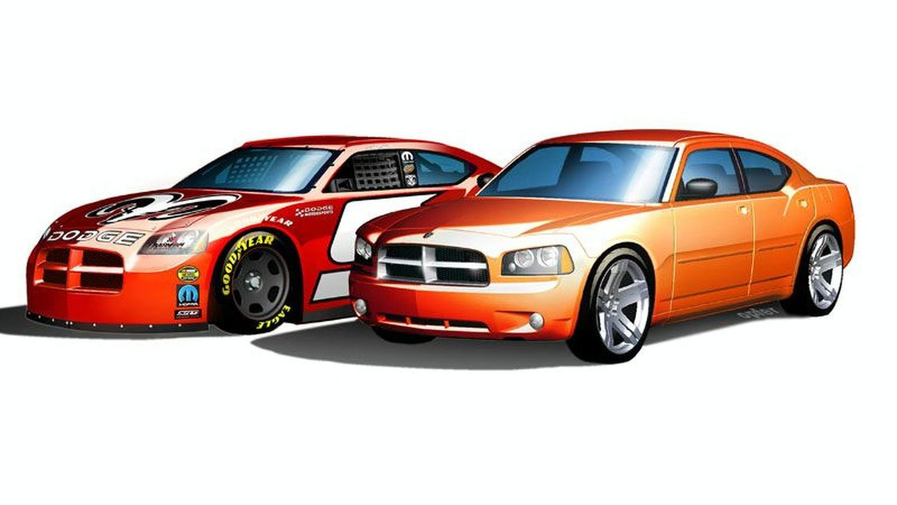 Dodge Charger and Cup Car