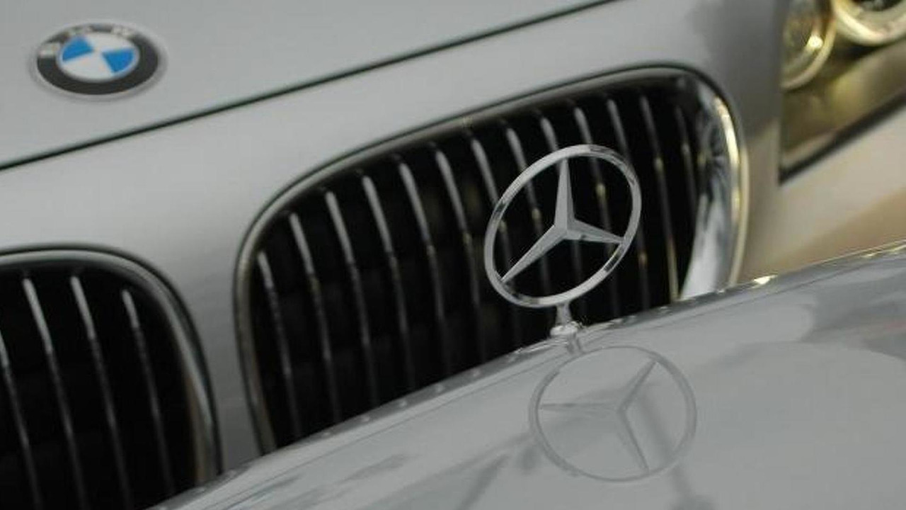 BMW, Mercedes-Benz logos