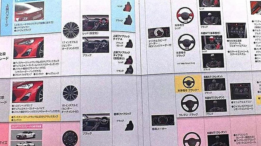 Toyota FT-86 specifications leaked