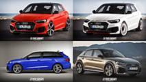 2019 Audi A1 renders