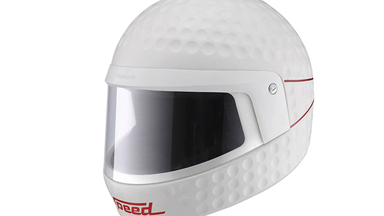 When motorcycle helmets look like golf balls