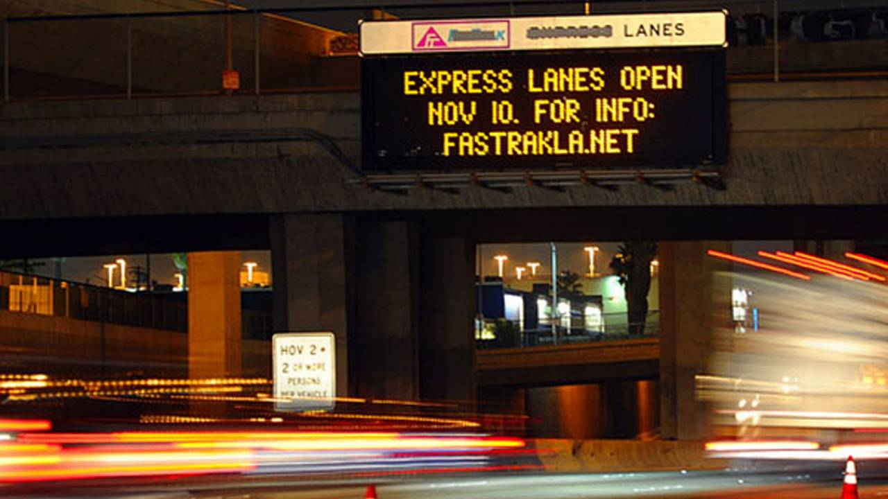 Los Angeles motorcycles can use Express lanes for free