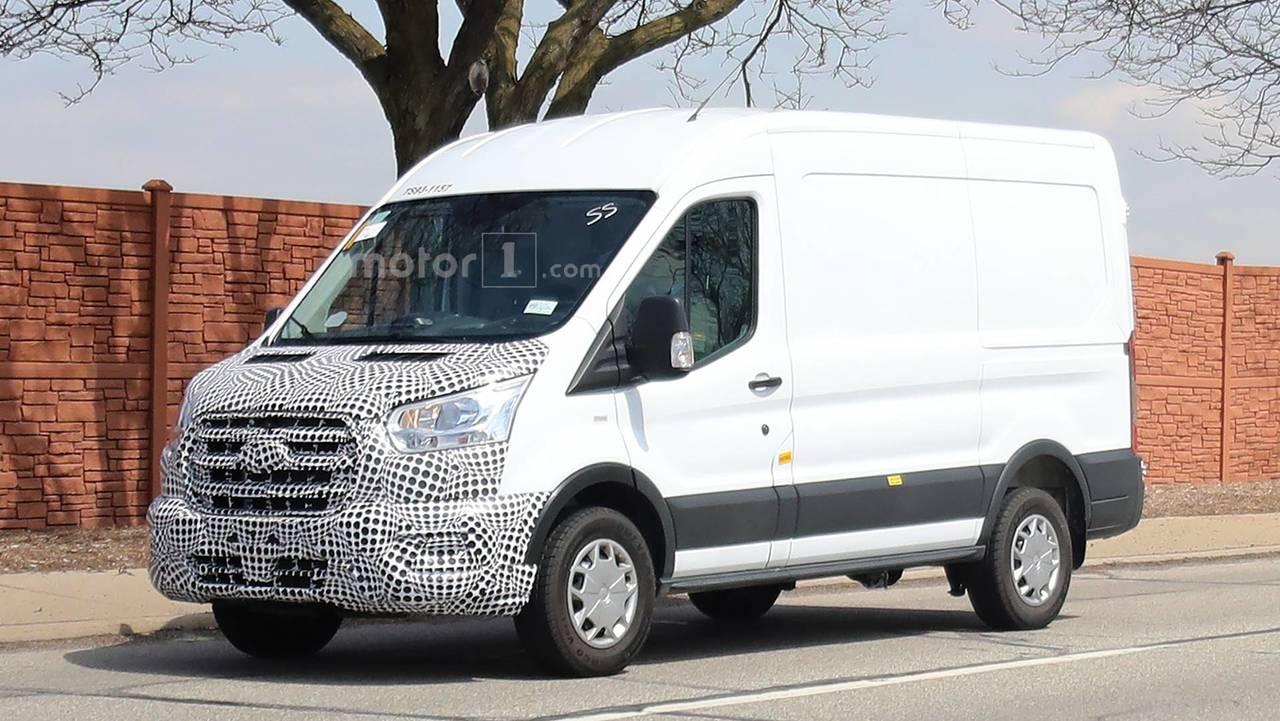 spoiler alert 2019 ford transit spied still looks like van. Black Bedroom Furniture Sets. Home Design Ideas