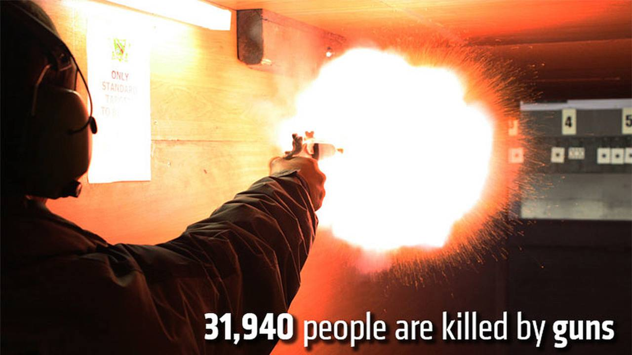 31,940 people are killed by guns