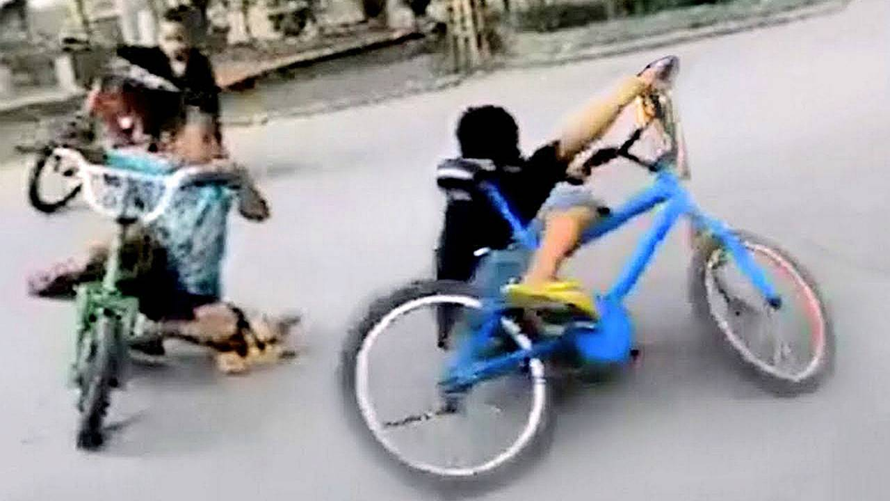 Watch These Kids on Bicycles Show you How to get a Knee Down