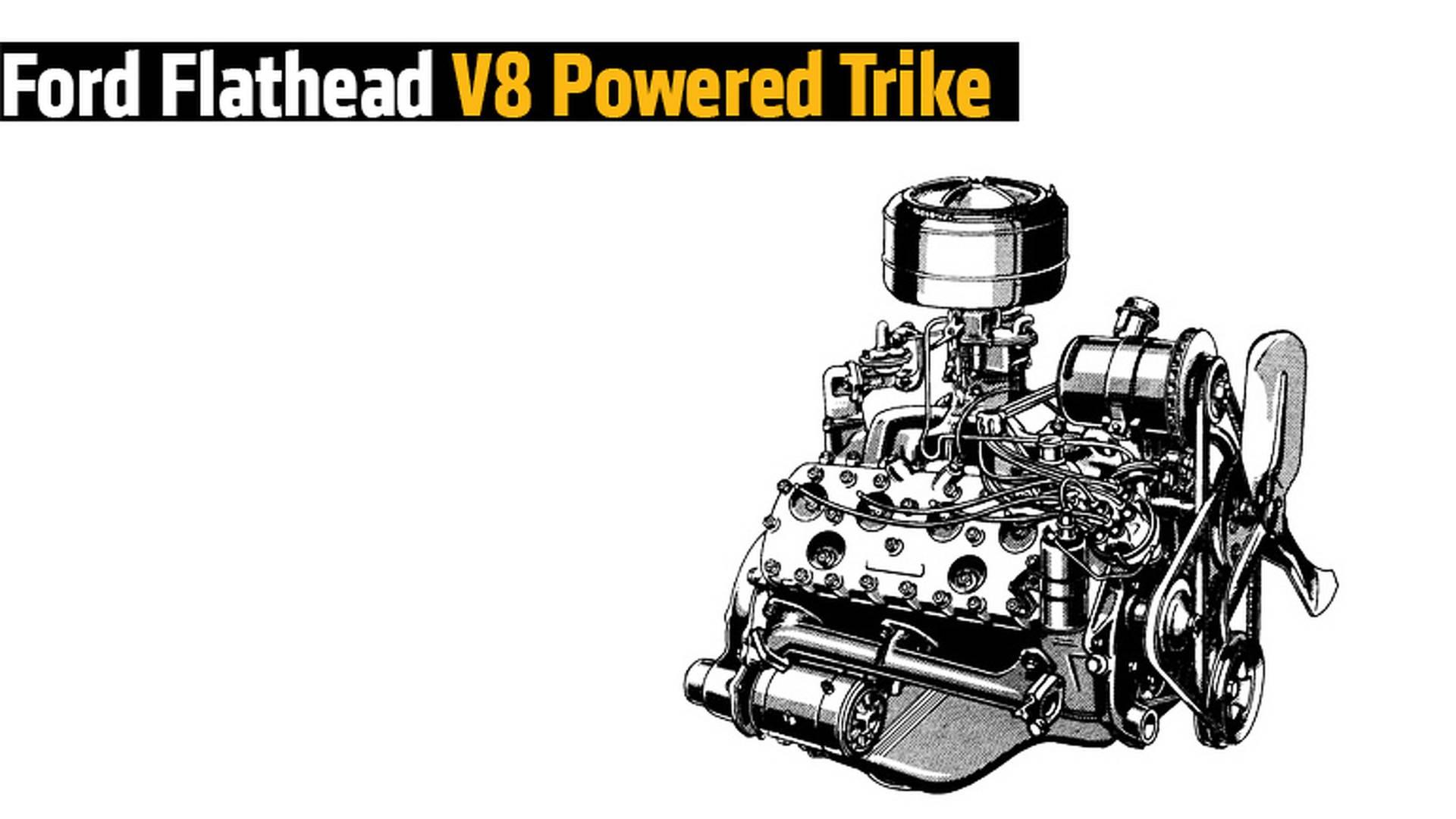 Ford Flathead V8 Powered Trike