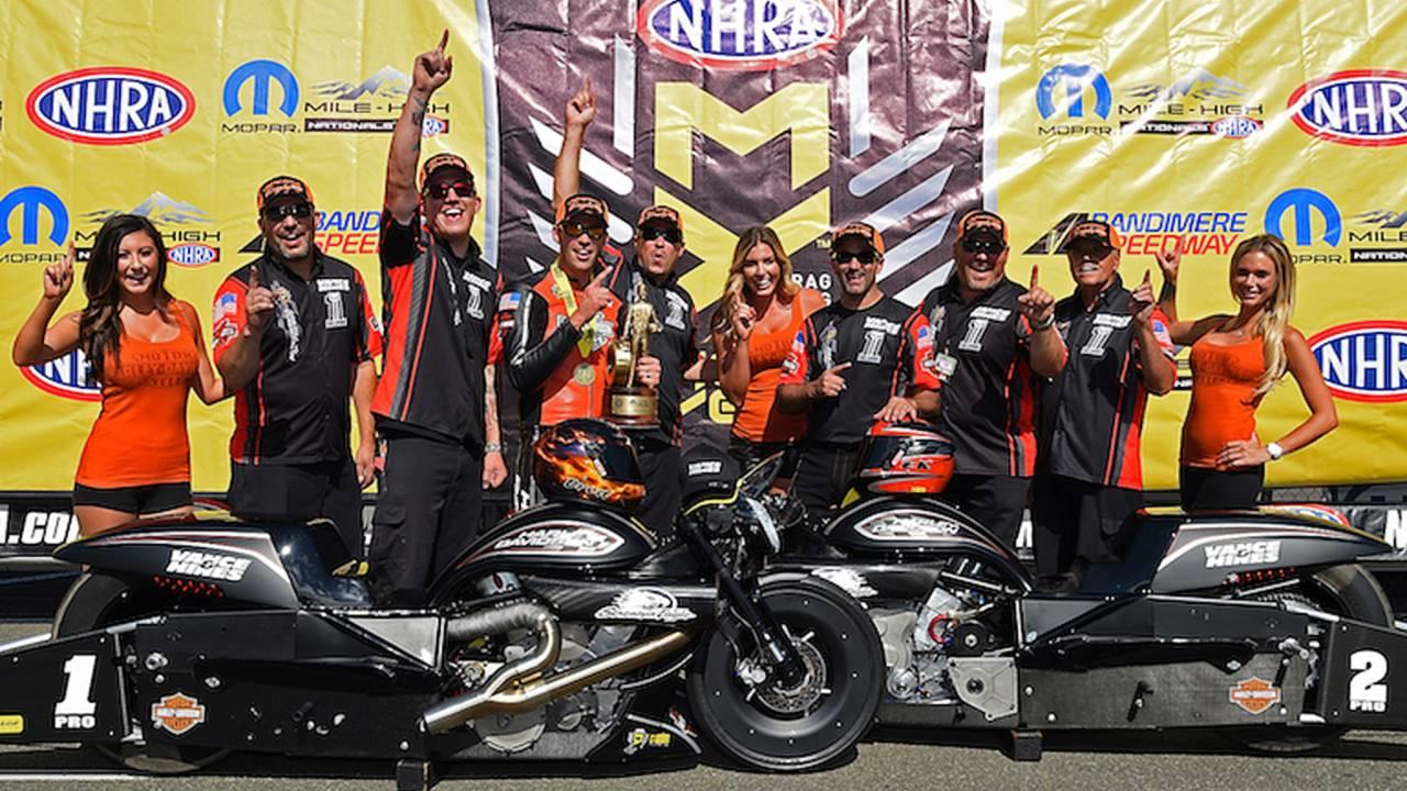 Harley-Davidson Rider Hines Sets Record At Mile-High