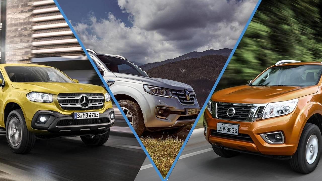 Nissan Frontier & Mercedes-Benz Classe X & Renault Alaskan