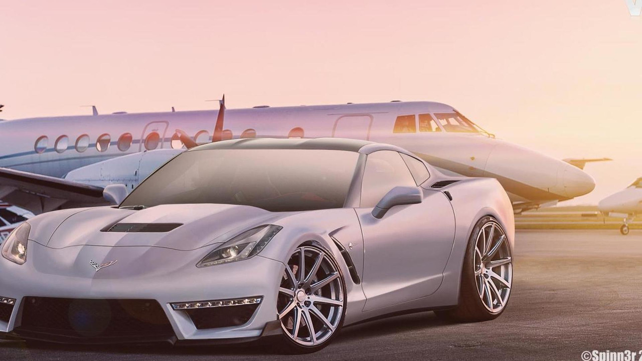 2014 Chevrolet Corvette Stingray C7 ZR1 Render / SpinnerBG