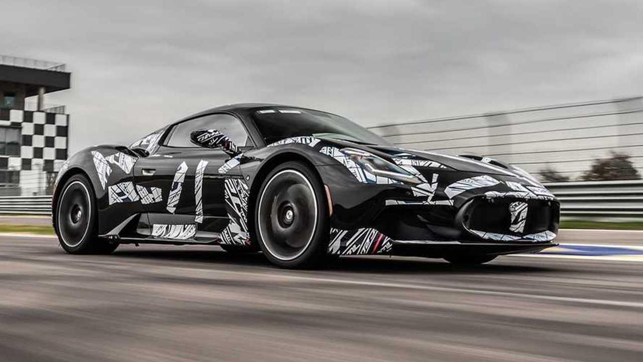 Maserati MC20 Moderna Circuit Testing