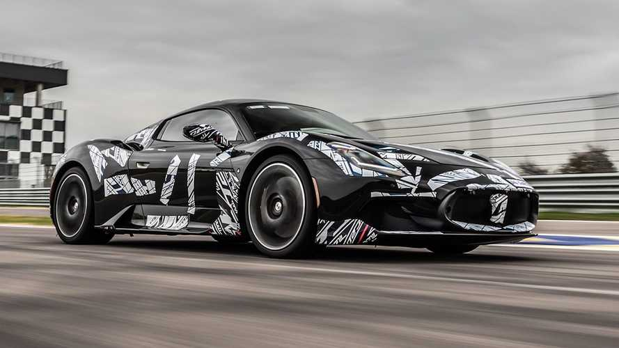 Maserati shows off the MC20 supercar during testing