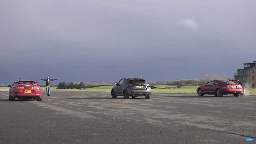 GR Yaris Faces A80 Supra, Celica GT-Four In Toyota Family Drag Race