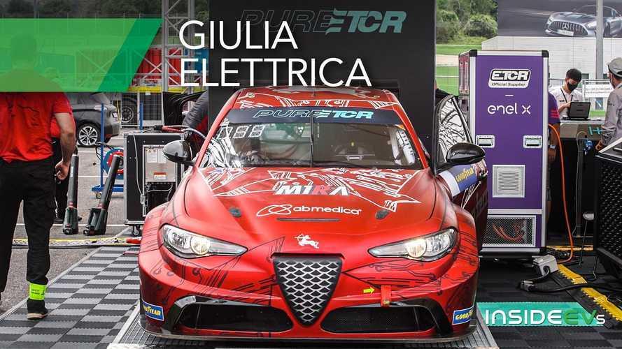 L'Alfa Romeo Giulia Elettrica esiste...e corre in pista