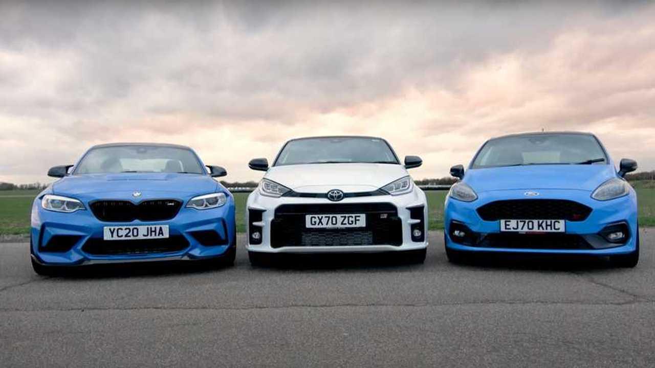 Toyota GR Yaris vs Ford Fiesta ST vs BMW M2 CS Track Battle