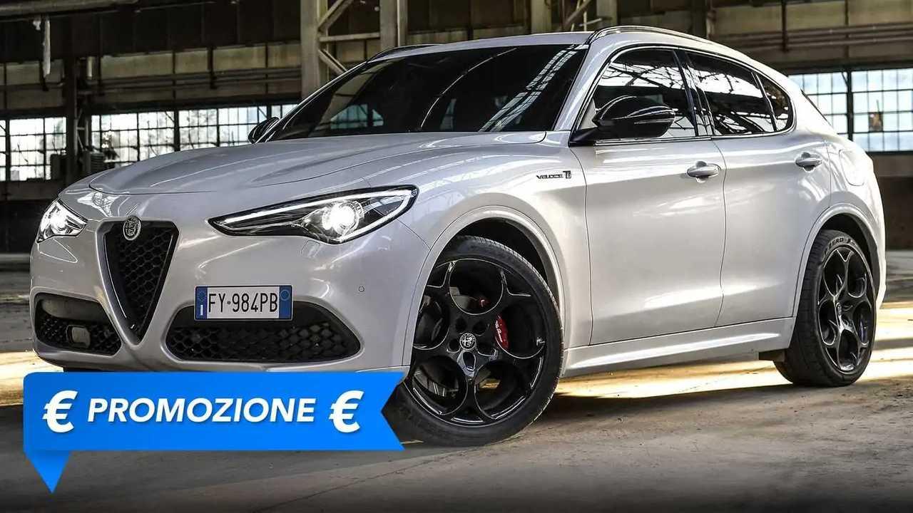Alfa Romeo Stelvio con template promozione