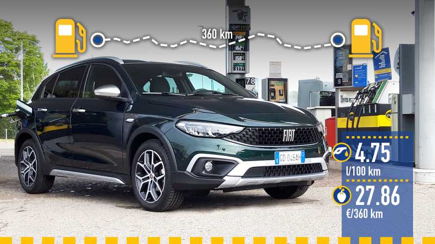 Fiat Tipo Cross 1.0 benzina, la prova dei consumi reali