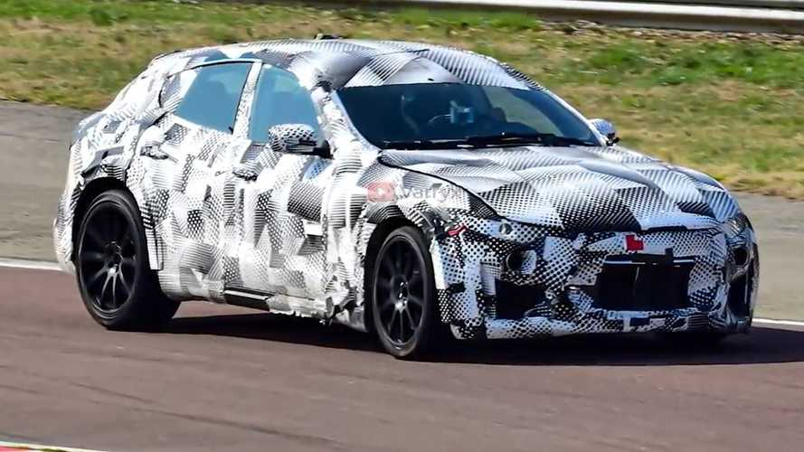Watch the Ferrari Purosangue SUV during low-speed testing at Fiorano