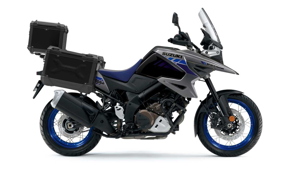 2021 Suzuki V-Strom 1050XT Tour Grey and Black - Right Side