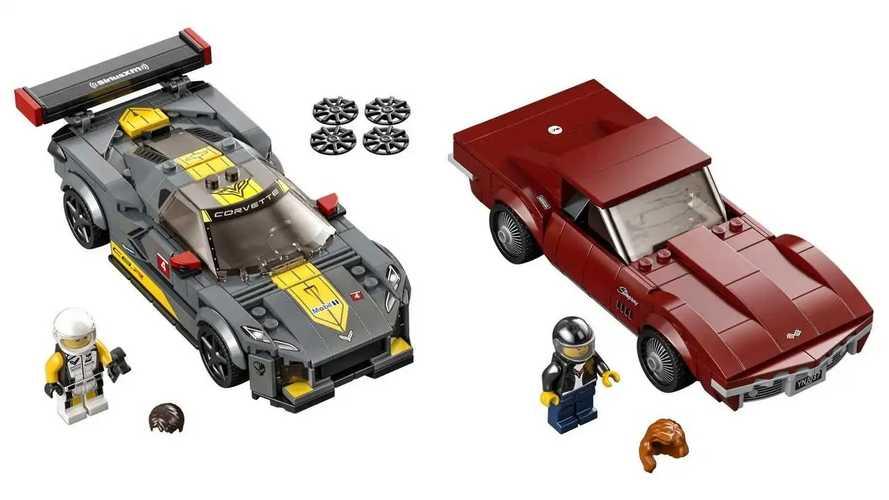 Lego Chevrolet Corvette C8-R e 1968 Chevrolet Corvette