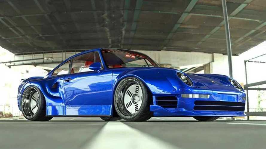 Sok Porsche rajongó kiáltana szentségtörést erre a szélesített 959-re