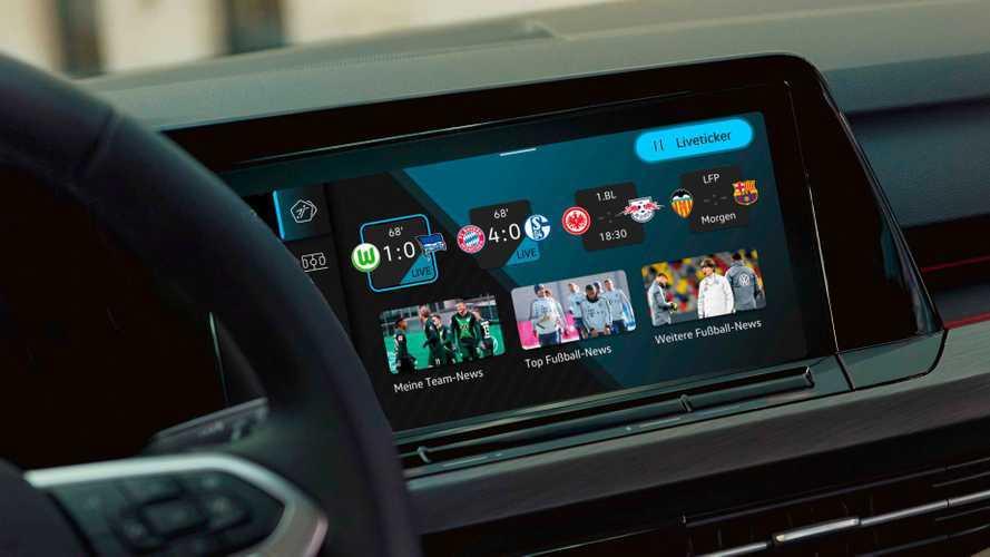 Su Volkswagen Golf arriva l'app per i tifosi di calcio