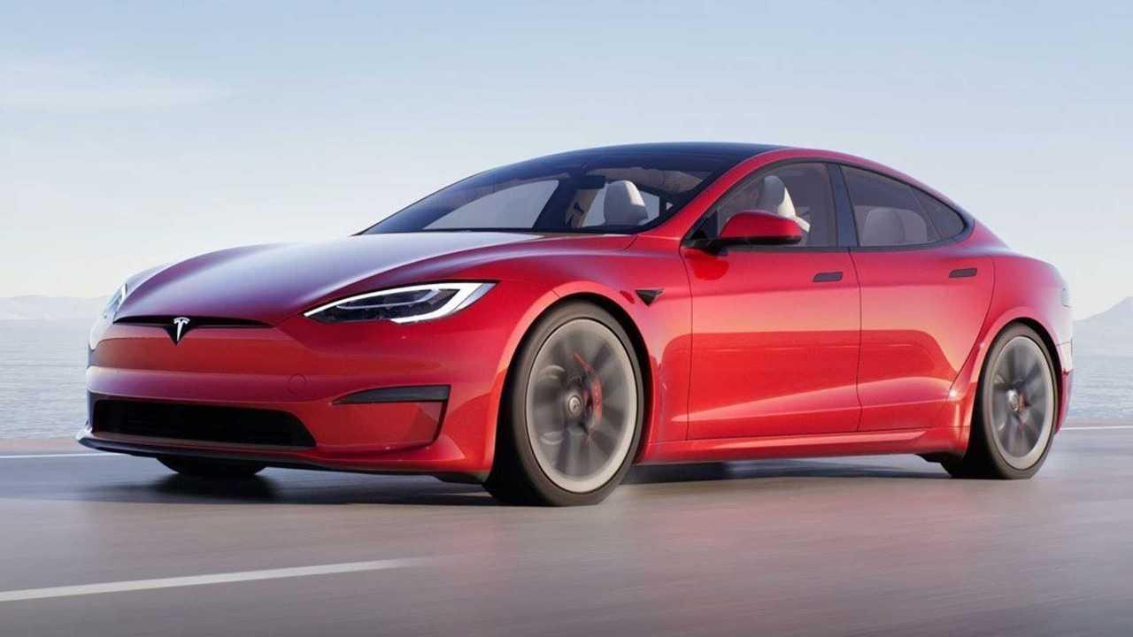 The 2021 Tesla Model S sedan