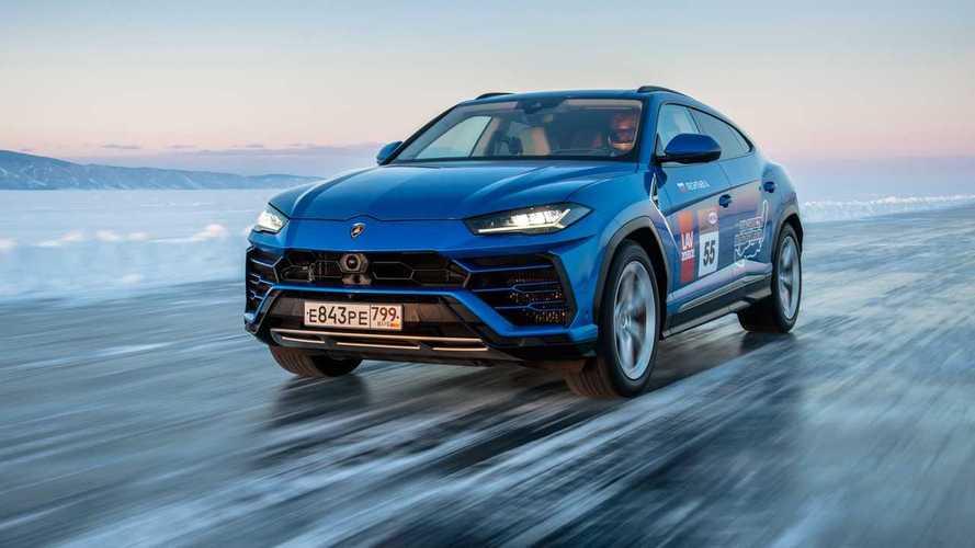 Record de vitesse pour le Lamborghini Urus sur le lac Baikal