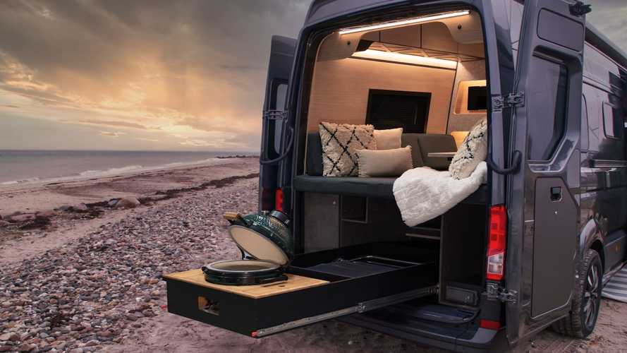 Loef's Latest Camper Van Comes With Slide-Out Ceramic Grill, Minibar