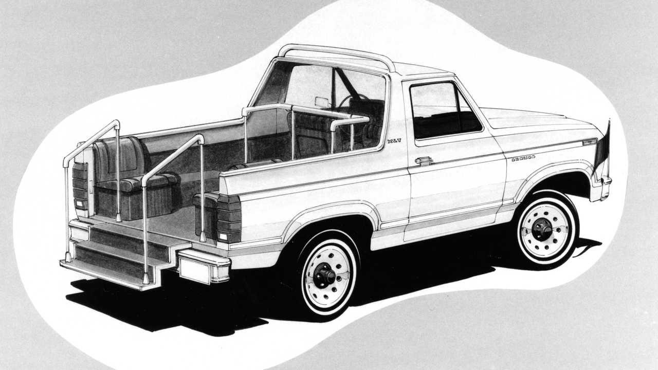 A rendering of the Bronco popemobile.