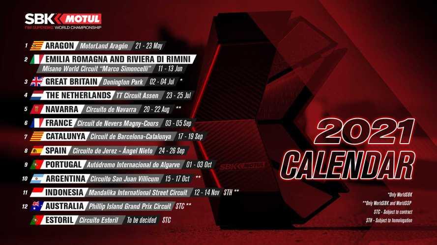 2021 World Superbike Provisional Calendar Starts Season In May