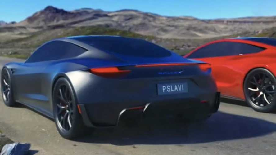 Watch How Much Quicker Tesla Roadster Is With Versus Without Thrusters