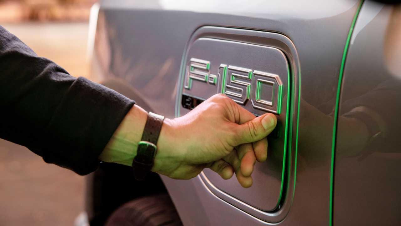 2022 Ford F-150 Lightning Charging