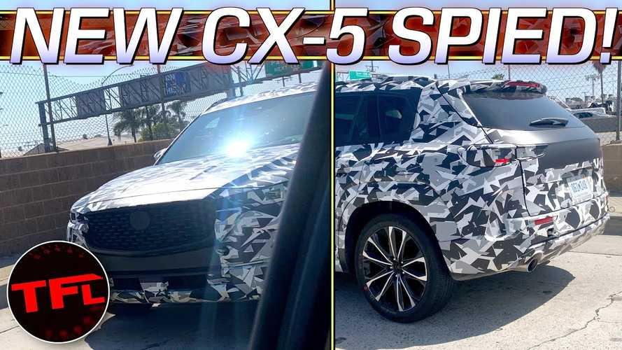 Next-Generation Mazda CX-5 Spied Up Close With Thin Camouflage