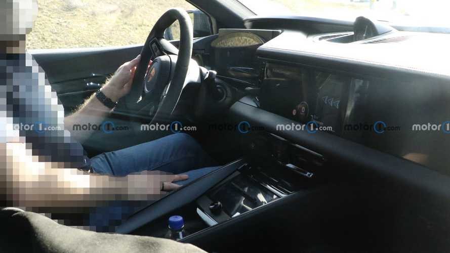 Porsche Macan EV Spied Showing Interior And Lightly Covered Exterior