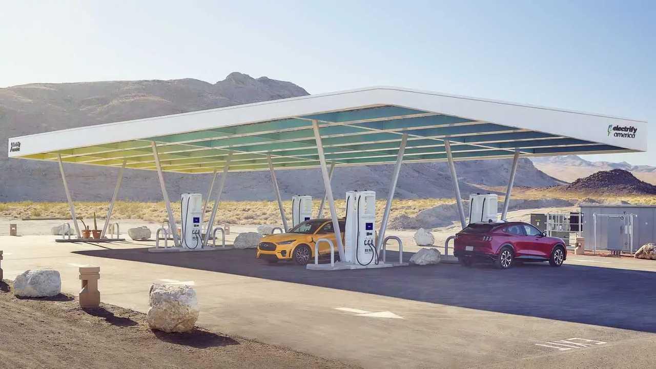 Electrify America solar canopy